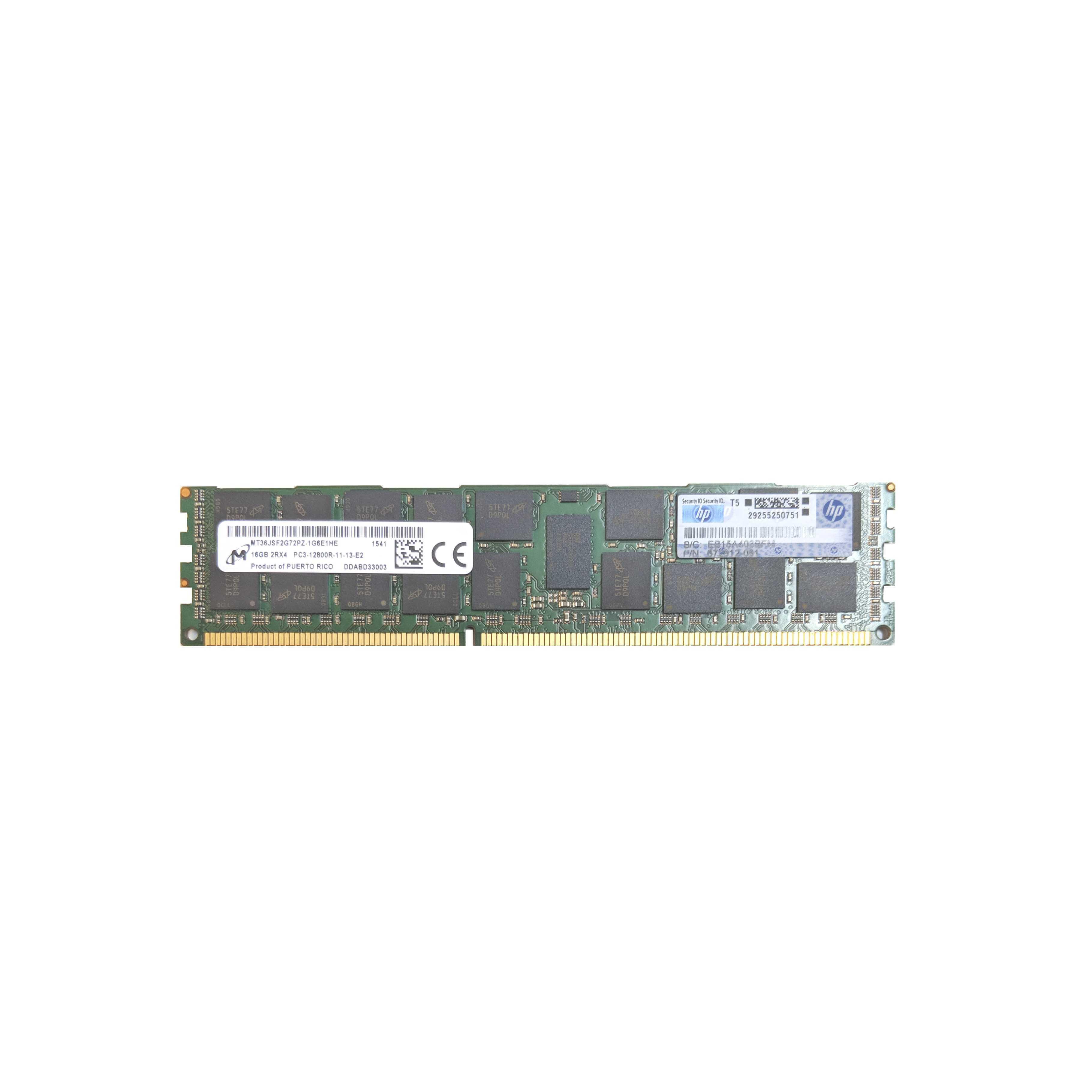 Hp 16gb Ddr3 Ecc Ram 12800r 672612 081 672631 B21 684031 001 Samsung Memory Server Pc3 Rdimm