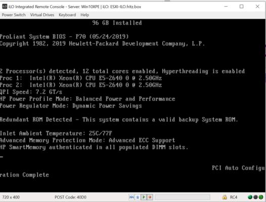 Testserver HP DL380p Gen8